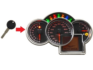 Moto Guzzi 1x transponder key → dashboard