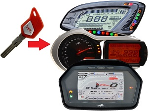 MV Agusta programming 1x transponder chip key → unit