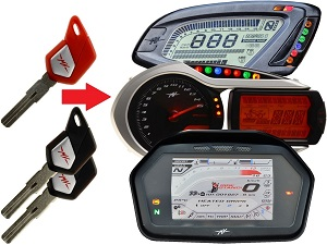MV Agusta programming 3x transponder chip key → unit