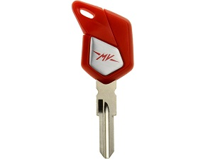 MV Agusta blanco chip key (red)