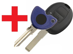 Program copy duplicate PIAGGIO chip key